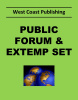 Public Forum-Extemp Set